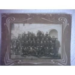 FOTO CUERPO DE INGENIEROS DE FERROCARRILES Trenes Valencia 1909