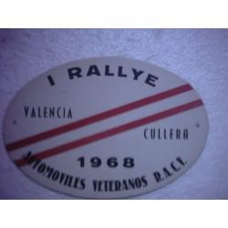 R.A .C.V (Rallye Valencia - Cullera 1968