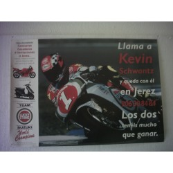 POSTER  Kevin Schwantz nº 1 Luky