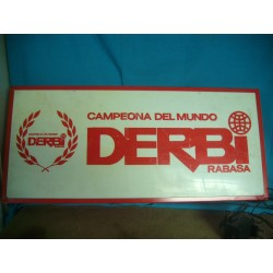 CARTEL LETRERO LUMINOSO DERBI