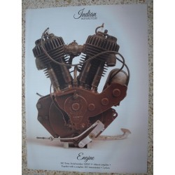 CARTEL POSTER  MOTOR INDIAN TWIN 1917 MOTOCYCLE